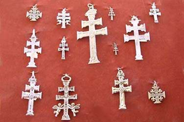 The social tradition of offering Caravaca Crosses